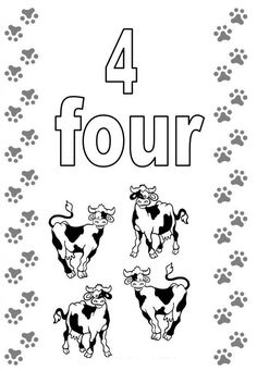 number coloring pages the number 4