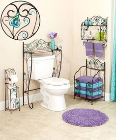 Jeweled Peacock Bathroom Collection|LTD Commodities