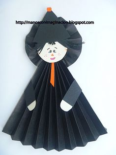 Papel doblado sencillo - Naikari Naika - Picasa Web Albums Halloween Crafts For Kids, Halloween 2017, Halloween Party, Birthday Charts, Quick Crafts, Cat Party, Recycled Art, Paper Toys, Elementary Art
