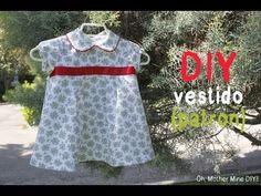 ▶ DIY Ropa de bebé: Vestido de flores y mangas de globo (patrón incluido) - YouTube