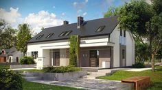 Budynek dostosowano dla rodzin wielopokoleniowych. Home Fashion, Home Projects, Garage Doors, Mansions, Architecture, House Styles, Outdoor Decor, Modern, Design