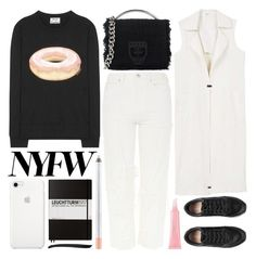 """donuts & coffee"" by foundlostme ❤ liked on Polyvore featuring Acne Studios, Topshop, MSGM, MANGO, Christian Dior, Leuchtturm1917, Eyeko and NYFW"