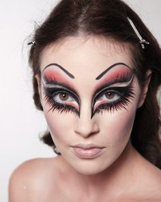 Halloween Makeup - good idea, but without the eyebrows