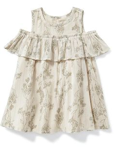 Off-The-Shoulder Ruffle Dress for Baby