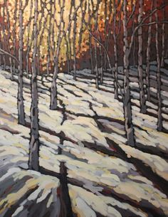 Jennifer Woodburn - One of Those Perfect Winter Days 60x48in acrylic on canvas