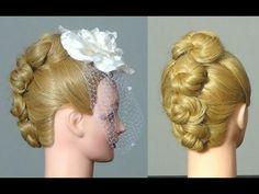 Свадебная прическа для длинных волос. Wedding hairstyle