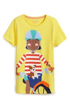 Mini Boden 'Summer Fun Girl' Graphic Cotton Tee available at #Nordstrom