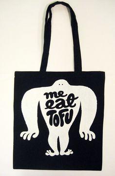 """""""Me eat Tofu"""" print design by Sami Vähä-Aho 2009."""