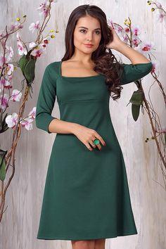 a53dd3ef0ae Платье 717. Зеленый. Трикотаж милано. во Владивостоке Состав  Вискоза 70%