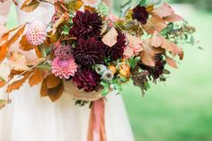 Gorgeous bouquet alert!!! I adore everything @brambleandwild does but this bouquet gets all the love - tied with some of my Autumn bundle ribbons too - perfection! Autumn bundle ribbons are in my shop now - a collection of rich autumn shades on different  silks to add colour and texture to your floral designs. Link in bio.