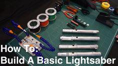 DIY Tutorial: How To Build A Basic Custom KRS Kit Stunt Lightsaber Make A Lightsaber, Lightsaber Design, Custom Lightsaber, Lightsaber Hilt, Jedi Costume, Larp Costumes, Star Wars Light Saber, Prop Making, Lego Moc