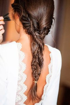 Red Inward Braids for Rocking Queens - 20 Under Braids Ideas to Disclose Your Natural Beauty - The Trending Hairstyle Bride Hairstyles, Messy Hairstyles, Pretty Hairstyles, Curly Hair Braids, Curly Hair Styles, Corte Y Color, Bridesmaid Hair, Hair Day, Bridal Hair