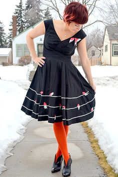 This is one of those dresses in which you can't help but twirl while wearing.