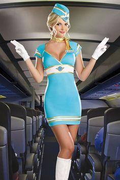 Be my flight attendant Dorothy Halloween Costume, Halloween Costumes Plus Size, Stewardess Costume, Airline Uniforms, Cap Dress, Flight Attendant, Up Girl, Cosplay Girls, Sexy