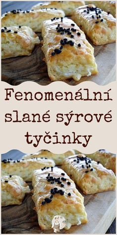 Fenomenální slané sýrové tyčinky Bread And Pastries, Savory Snacks, Scones, Banana Bread, Smoothies, Bakery, Good Food, Food And Drink, Low Carb