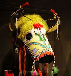 Native American beaded horse mask