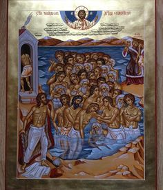 The 40 Holy Martyrs of Sebaste by Paul Drozdowski Orthodox Icons, Holi, Saints, Religion, Composition, Painting, Fresco, Painting Art, Holi Celebration