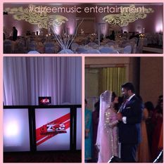 Custom Color LED Ballroom Uplighting and Design Monograms at the Sheraton Brookhollow Houston, TX  By: DJZEEMUSIC ENTERTAINMENT