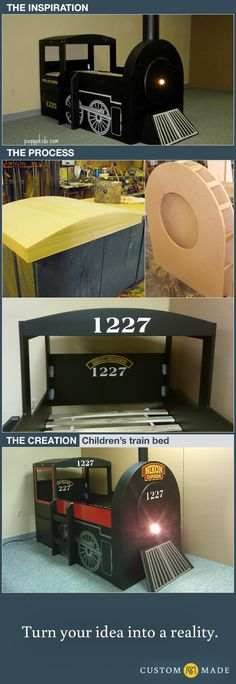 Children's train bed - CustomMade Blog CustomMade Blog