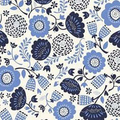 happy blues (by Stacy Iest Hsu at print & pattern)