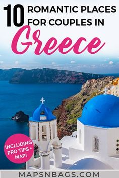 10 Most Romantic Greek Islands for Couples (That You'll Both Love!)The most romantic places in Greece for couples. Don't miss this ridiculously romantic Greek islands that are perfect for honeymoons and dreams of wanderlust. Among these places is Sa Most Romantic Places, Romantic Vacations, Romantic Getaways, Romantic Travel, Beach Vacations, Best Greek Islands, Greece Islands, Tonga, Where Is Bora Bora