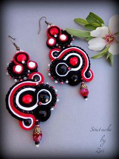 El Rinconcito de Zivi: pendientes de soutache, pequeños pendientes de soutache, pendientes soutache flamenca- soutache earrings, soutache jewelry