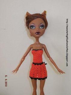 Ropa para muñecos - Ropa Monster High: v54 - hecho a mano por mamimonster en DaWanda