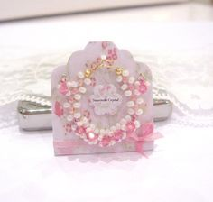dollhouse necklace and earring crystal rose 12th scale miniature wearable by Rainbowminiatures on Etsy