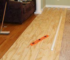 Laying plywood floors :: Hometalk