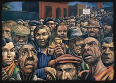 Manifestacion, (Demonstration),  1934 // Antonio Berni (argentinian painter)  Encontrado en abccultural.com.ar