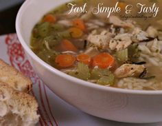 This easy Chicken and Wild Rice Soup is perfect for those cold winter nights. You'll never guess what the secret ingredient is. Easy, Simple and Tasty!
