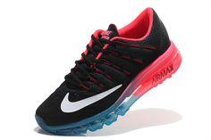 best website d6a11 213ef Size Euro 44 Nike Air Max 2016 Black Pink Flash Hyper Blue White