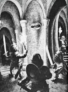 Down, down, down, past the magic mouth, toward the eyes in the dark. (Dave Trampier from the AD&D Players Handbook, TSR, 1978.)