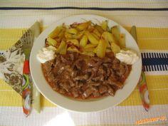 Hovädzie mäso Stroganov Meat Recipes, Pork, Food And Drink, Beef, Cooking, Meat Food, Food, Kale Stir Fry, Meat