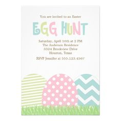 Cute Easter Egg Hunt Invitations