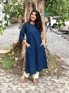 Suit sets page 2 the indian ethnic co. Dress Indian Style, Indian Dresses, Indian Outfits, Simple Kurta Designs, Kurta Designs Women, Casual Indian Fashion, Kurta With Pants, Kurti Designs Party Wear, Woman Outfits