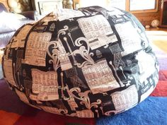 Black and White Bean Bag Cover by CopperBugCompany on Etsy, $55.00