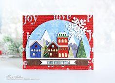 Tim Holtz Snow Globe dies, winter, Joyful Moments