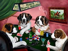 Home of 4 Saint #Bernard #Dogs Playing #Poker #Greeting #Card ... https://www.amazon.com/dp/B01M211L9S/ref=cm_sw_r_pi_dp_x_uA99xbVYRQHDA