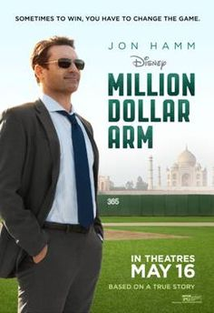 Disney: Million Dollar Arm Never heard of it but I need to watch this. My arm hasn't cost a million yet, but we will probably be at 300,000 after Friday.
