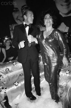 Liz Taylor and Roy Halston at Studio 54