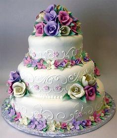 Amazing Wedding Cakes, Elegant Wedding Cakes, Wedding Cake Designs, Amazing Cakes, Elegant Cakes, Gorgeous Cakes, Pretty Cakes, Cute Cakes, Edible Flowers Cake
