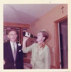guzzling champagne in church, lol  Beso de Vino