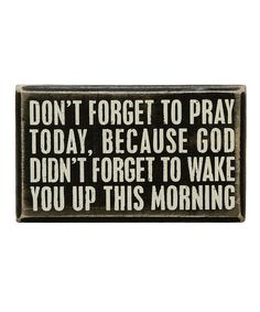 'Don't Forget' Box Sign | zulily
