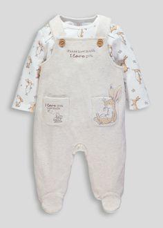 Careful Stunning Baby Babygrow Sleepsuit Disney Newborn Unisex Yellow Winnie Pooh Velour Boys' Clothing (newborn-5t)