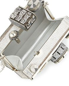 Shop Judith Leiber Couture clutches and handbags at Neiman Marcus. Silver Outfits, Point And Shoot Camera, Designer Clutch, Judith Leiber, Metallic Leather, Chanel Boy Bag, Designing Women, Luxury Branding, Clutch Bag