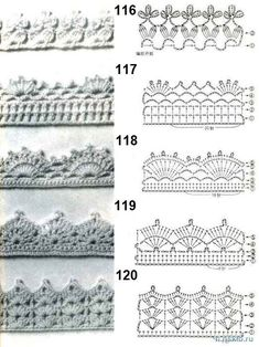 22 trendy crochet edging and borders pillowcases blanket stitch Crochet Edging Patterns Free, Crochet Doily Diagram, Crochet Lace Edging, Crochet Borders, Filet Crochet, Crochet Shawl, Easy Crochet, Crochet Stitches, Free Pattern