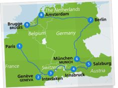 Discover Western Europe with a Eurail Pass! Our travel itinerary highlights the best places to visit in Europe by train and make use of the most sustainable mode of travel in Europe. Come and see the best of Western Europe. European Train Travel, Europe Train, Train Map, By Train, Train Route, Travel Abroad, Travel Tips, Travel Stuff, Travel Hacks
