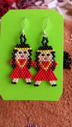 Earrings made fr delica beads
