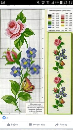 Discover thousands of images about ROSAS Butterfly Cross Stitch, Cross Stitch Borders, Cross Stitch Rose, Cross Stitch Flowers, Cross Stitch Designs, Cross Stitching, Cross Patterns, Counted Cross Stitch Patterns, Cross Stitch Charts